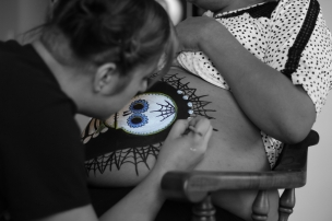 Dia De Los Muertos Maternity Photo Shoot - Frisco Prime Concept Photography